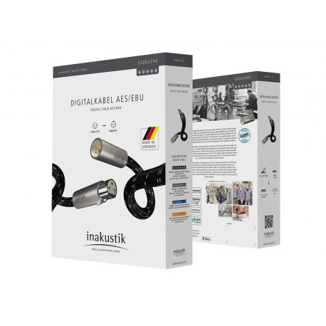 Кабель межблочный аудио In-Akustik Exzellenz Digital Cable AESEBU 0.75m 006051007
