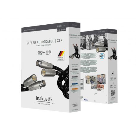 XLR кабель In-Akustik Exzellenz Stereo Cable XLR 0.75m 006050007