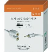 Кабель межблочный In-Akustik Star MP3 Adapter 3.5 Phone - 2 Phone 00310302