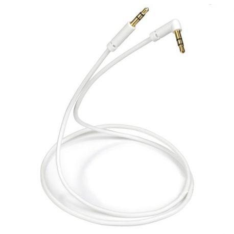 Кабель межблочный In-Akustik White MP3 Audio Cable 90° 0.75m 0104310751