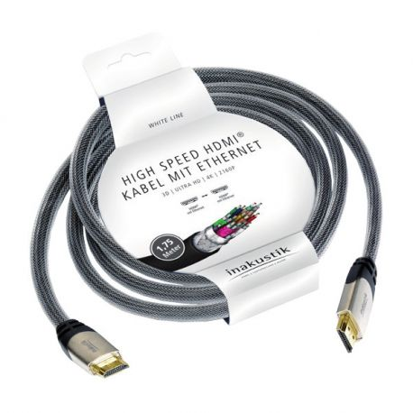 HDMI кабель In-Akustik White HDMI 1.75m 010527502