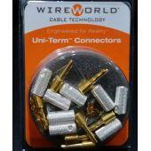Разъем WireWorld SET of 8 Uni-Term Gold Bananas w/Sockets
